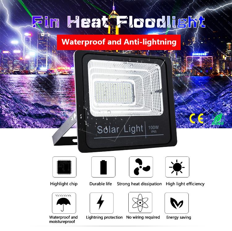 IP66 solar-power navigation light 100watt garden solar light spotlight