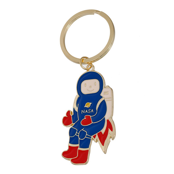 New Fashion Astronaut Spaceman Gold Plated Multicolor Chains Key Rings