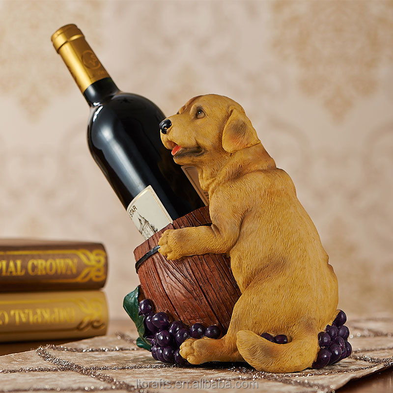 home decoration wholesale dog animal wine bottle rack