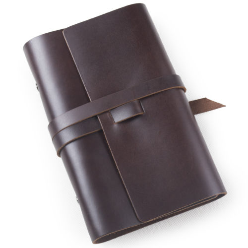 Pu Genuine Leather Traveler's soft cover Notebook Diary