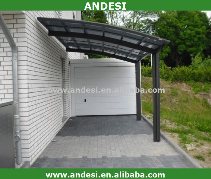 aluminium carport mit kunststoff bogendach garage dach fahrradschuppen produkt id 1645533000. Black Bedroom Furniture Sets. Home Design Ideas