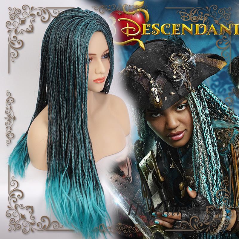 Descendants 2 Uma Cosplay Wig Braided Synthetic Fashion