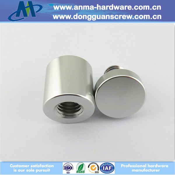 Wall Mounted Advertisement Nails Aluminium Glass Standoffs