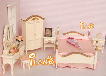 Beau Small Doll Bedroom Set Mini Doll Bed Set / 6 Cream Color WB008B
