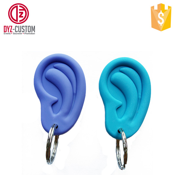 Novelty Gift Keychain Promotional Silicone Ear Ring Keychain - Buy ... 02885e141