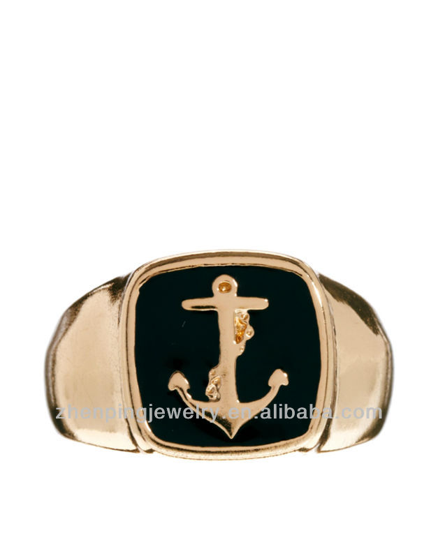 2013 mens signet ring with anchor,China wholesale stainless steel rings vners