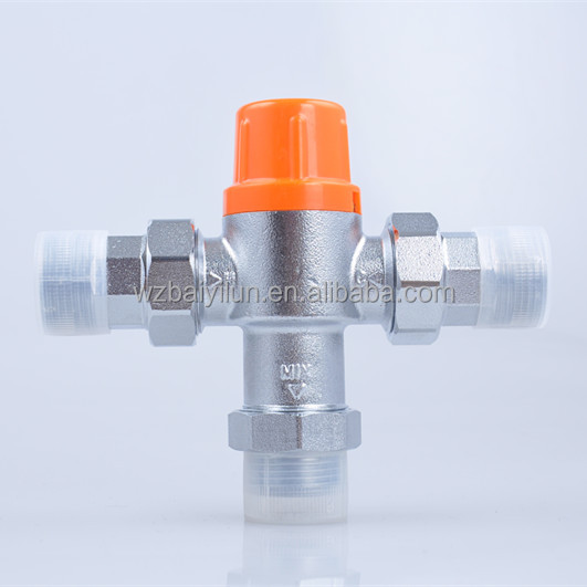 CE brass solar water automatic valve, temperature mixing valve
