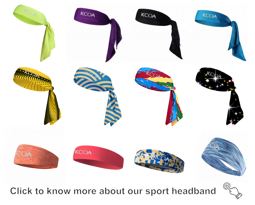 Workout fitness custom print yoga head tie basketball headbands