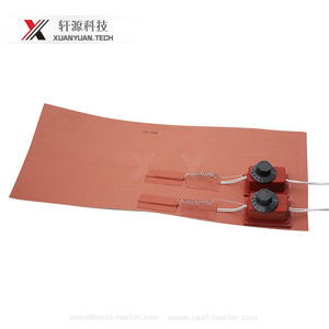 low power silicone rubber heating element