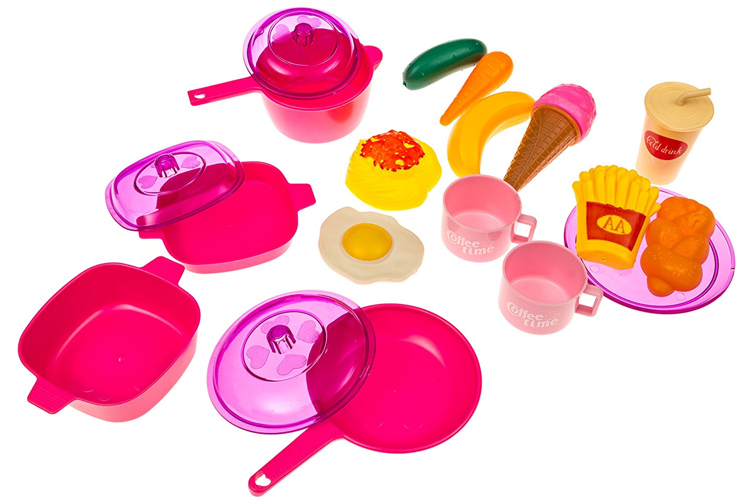 Kids Play Food Dishes Set Toy