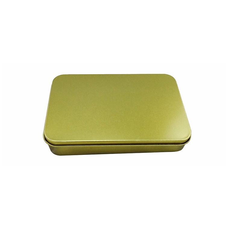 Eco-Friendly Gift Rectangular Tin Box Metal Cosmetic/Jewelry/Pill Box