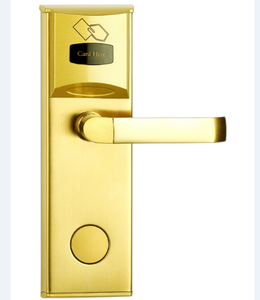 LCD screen fashion smart key card electronic keyless RFID hotel door lock system, rf card door handle hotel