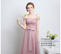 Q021 Bat Sleeves Lady Party Dress 4choice Long pink bridesmaid dress patterns