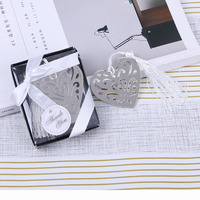 Hollow Heart Bookmark Wedding Souvenirs Guests Good Quality Baptism Favors