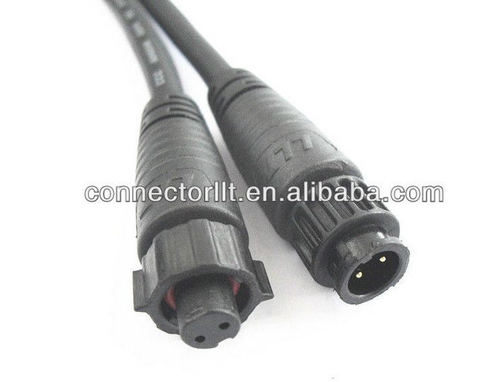 2 Pin Low Voltage Connector Injection Molded Cable