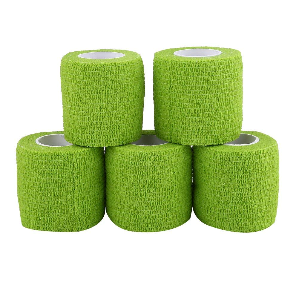 Dilwe 5 Rolls Self Adhesive Bandage, First Aid Waterproof Self-adherent Wrap Rainbow Colors Tapes