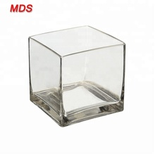 Groothandel 6 inch clear cube vierkante <span class=keywords><strong>glazen</strong></span> <span class=keywords><strong>vaas</strong></span> voor koop