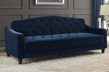 Modern Furniture Soft Velvet Fabric Handcrafted Tufted Sofa Chesterfield Couch
