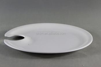 9 Inch Melamine Cocktail Plate Wine Melamine Goblet Holder Plate & 9 Inch Melamine Cocktail Plate Wine Melamine Goblet Holder Plate ...
