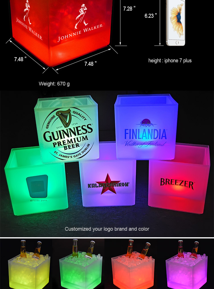 China wholesale made champagne plastic beer ice bucket with special design