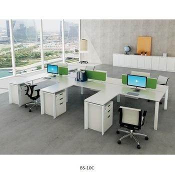 Wooden Office Modular Furniture White
