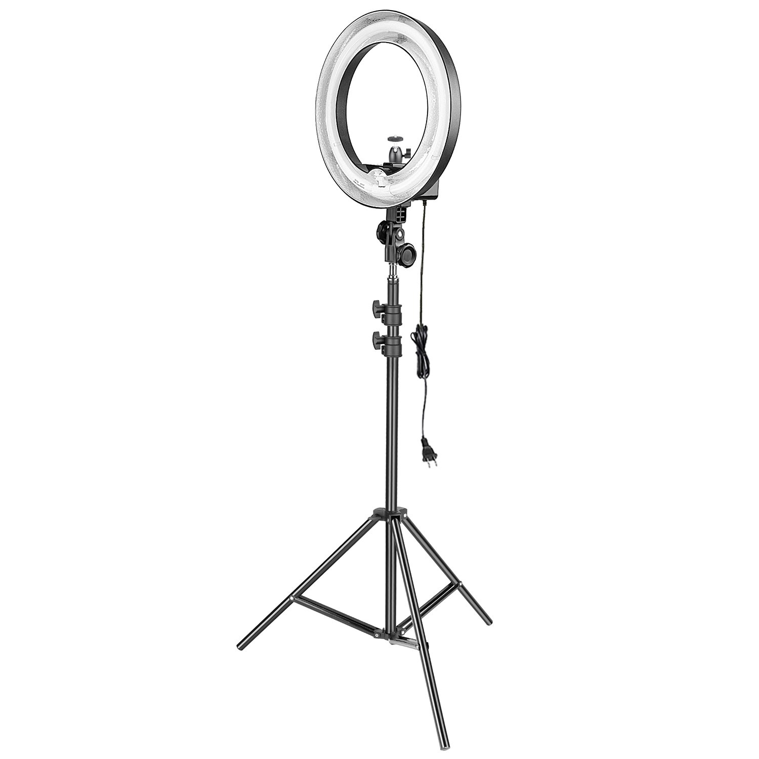 Neewer 14-inch 50W 5500K Camera Ring Light and Light Stand Lighting Kit - Dimmable Fluorescent Ring Light and 6.5 feet Light Stand with Ball Head Hotshoe Adapter for Camera Photo Studio YouTube Video