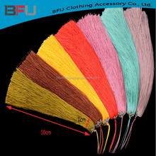 long silk tassel for clothing high quality moroccan long silk tassel