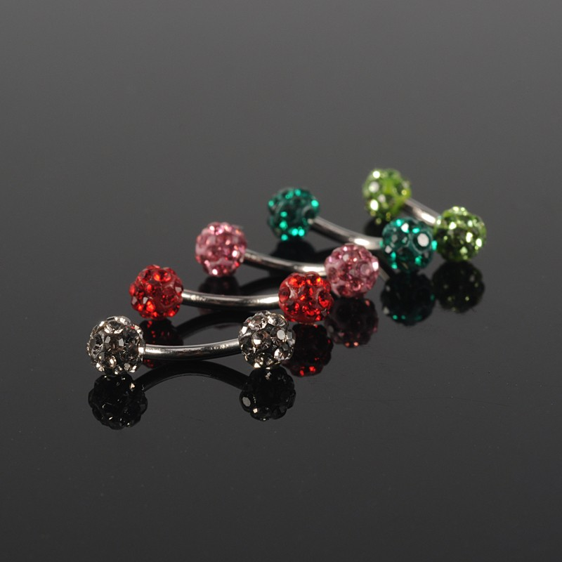 Stainless steel body piercing jewelry eyebrow ring with silicone ball