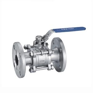 150LB Manual Stainless steel Flange 3pc Ball Valve