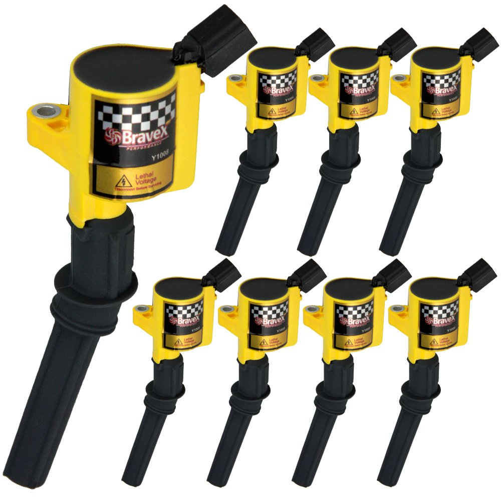 Set of 10 BLACK Ignition Coil DG508 for Ford 4.6L 5.4L V8 DG457 DG472 DG491 CROWN VICTORIA EXPEDITION F-150 F-250 MUSTANG LINCOLN MERCURY EXPLORER 3W7Z-12029-AA