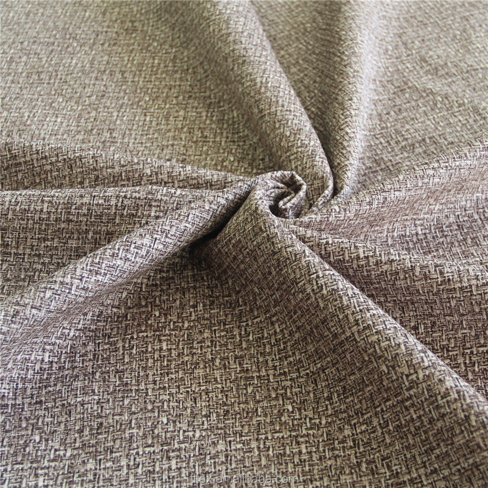 Polyester linen imitation super soft burn out velvet fabric for sofa/chair upholstery
