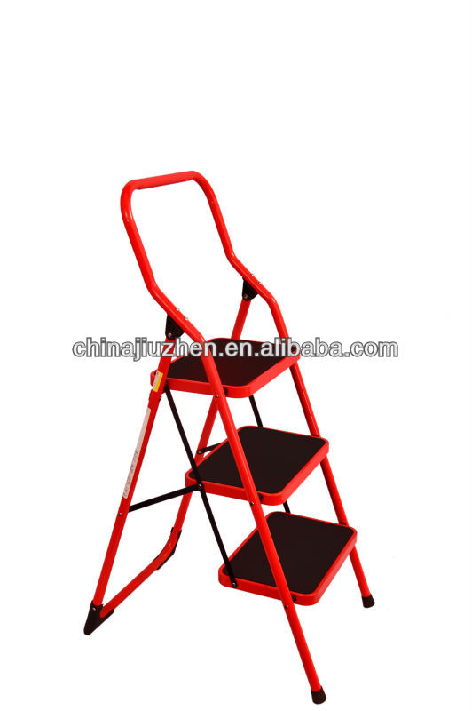 household steel 3 steps ladder,EN131