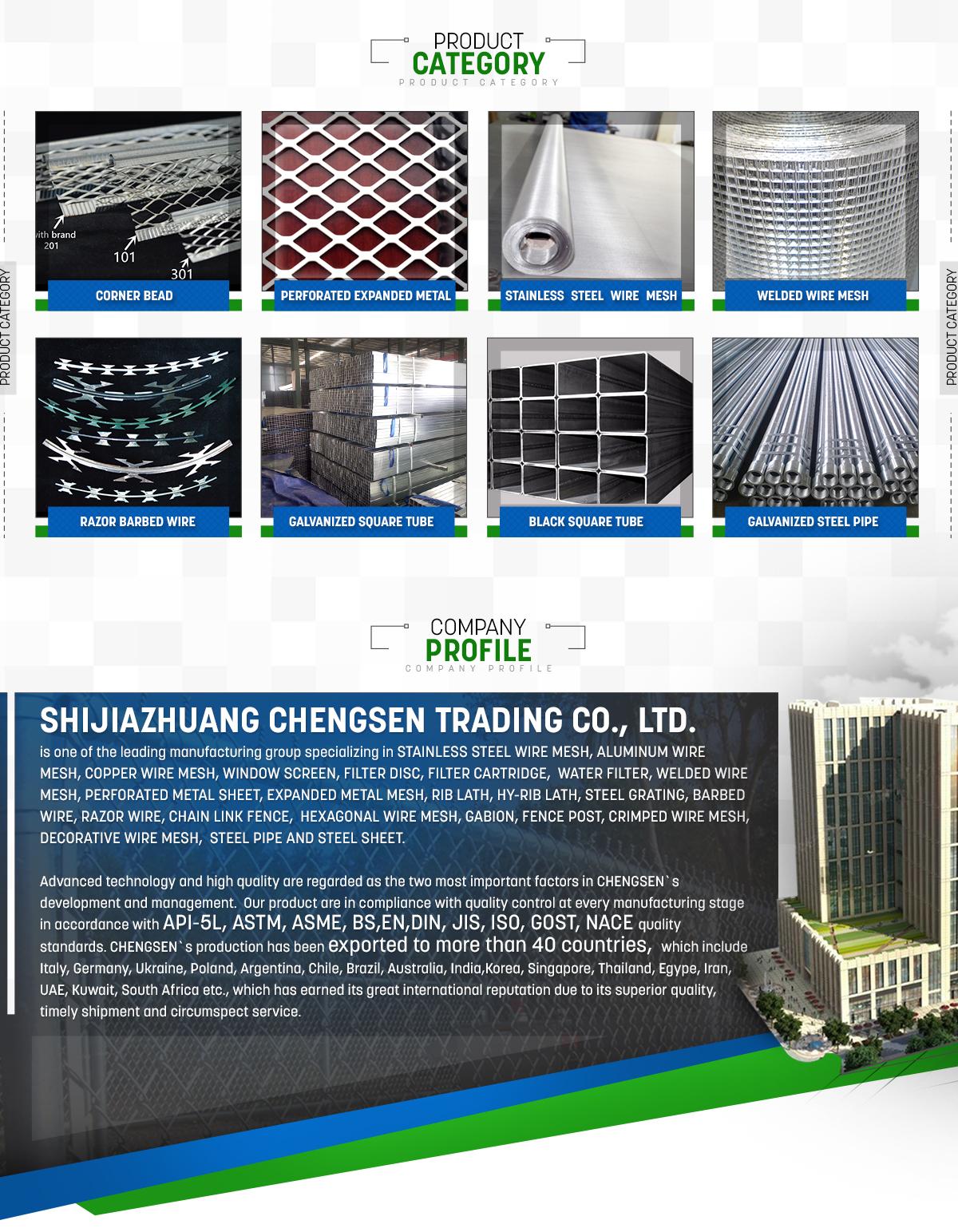 Shijiazhuang Chengsen Trading Co., Ltd. - Welded wire mesh ...
