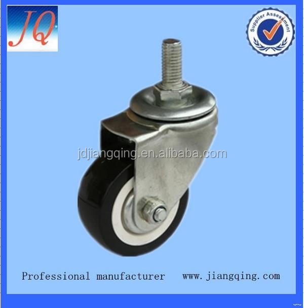 Alibaba china hotsell mold on elastic rubber industrial caster