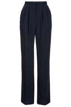 Женские 100% полиэстер черный прямой ногой классические брюки женские  вечерние классические брюки черные брюки dacd0853b8400