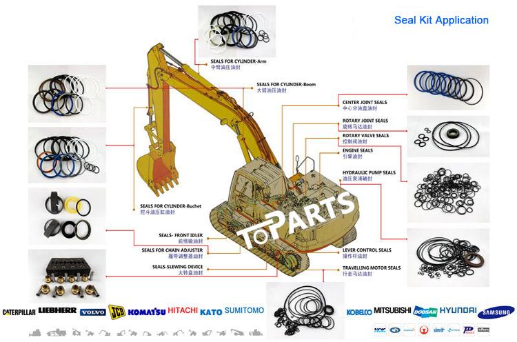 Excavator Spare Parts 320b 320c Control Levers Seal Kit
