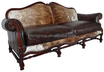 Retro Vintage European Genuine Fur Leather Sofa,Antique Leather Couch Of 2  Seat Bf11 01133a   Buy Fur Leather Sofa,Fur Leather Couch,Genuine Leather  ...
