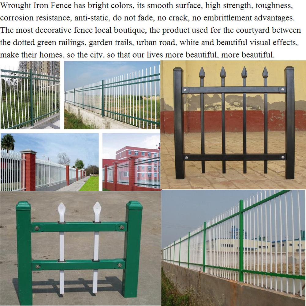Black powder coated wrought iron fence buy antique
