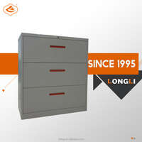 Steel office storage file 2-4 drawers lateral filing cabinet