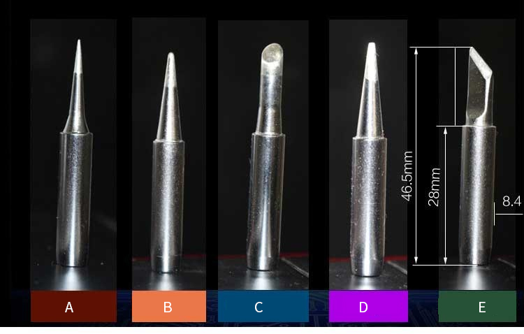 35W slot long life internal thermal ceramic uniform temperature soldering iron tip