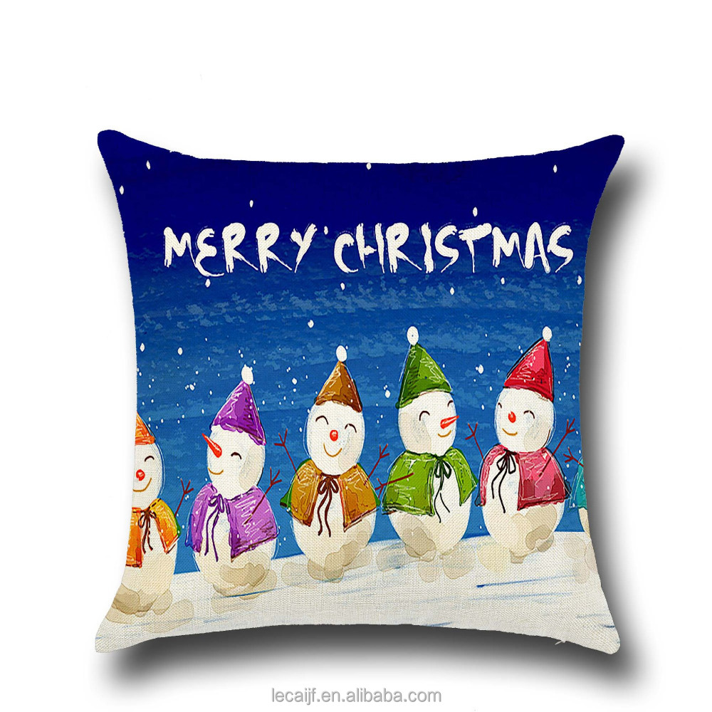 Merry <strong>Christmas</strong> Snowman Colorful Pillowcase Best <strong>Christmas</strong> Decorate