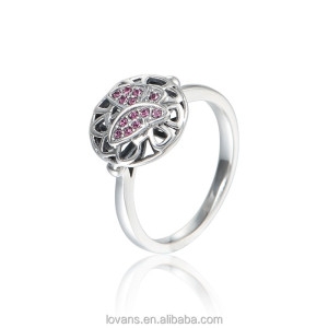 Gemstone Jewelry 925 Sterling Silver Ring Ruby Crystal Ring Jewellery Women'S RIPY073-8
