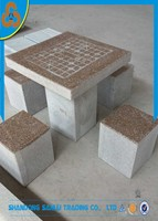 Outdoor chinese morden stone chess table for sale