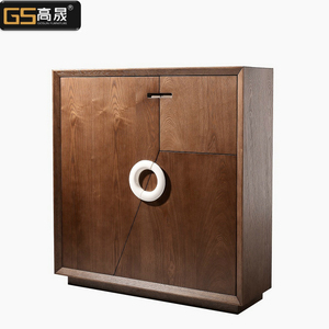 Large modern wooden outdoor shoe cabinet