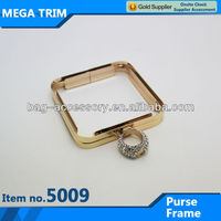 rectange shape purse box frame with ring No.5009 elegant lock for noble purse frame