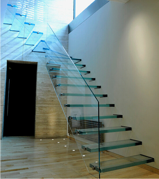 Genial Customized Floating Staircase Cost Spaces/ Laminate Glass Stairs System