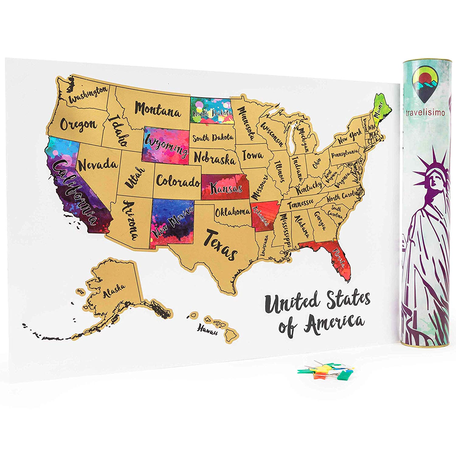 Hot Sale Christmas Gift Scratch Off Us Map Poster Custom Design Scratch  World Map - Buy Us Scratch Map,Personalised Usa Map,Travel Map Product on  ...