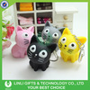 Novelty Cute Cat Shape Custom Sound Effect Keychain With LED Light