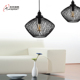 Metal Pendant Light With E27 Base Black Color Iron Net Lampshade For Loft Decor
