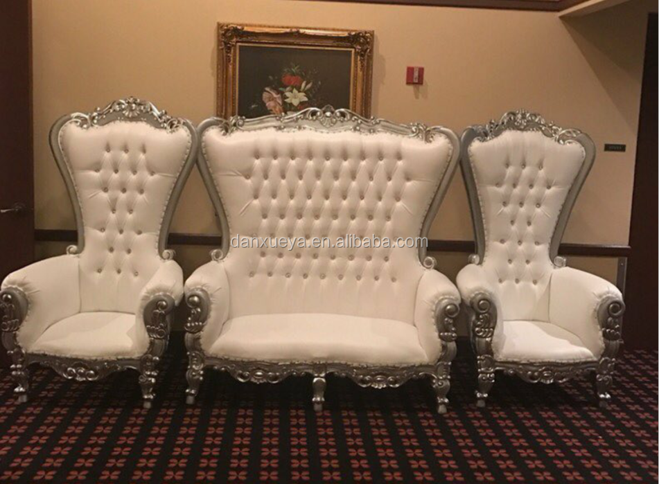 Danxueya King And Queen Wedding Chairs Bride Groom Chair White For